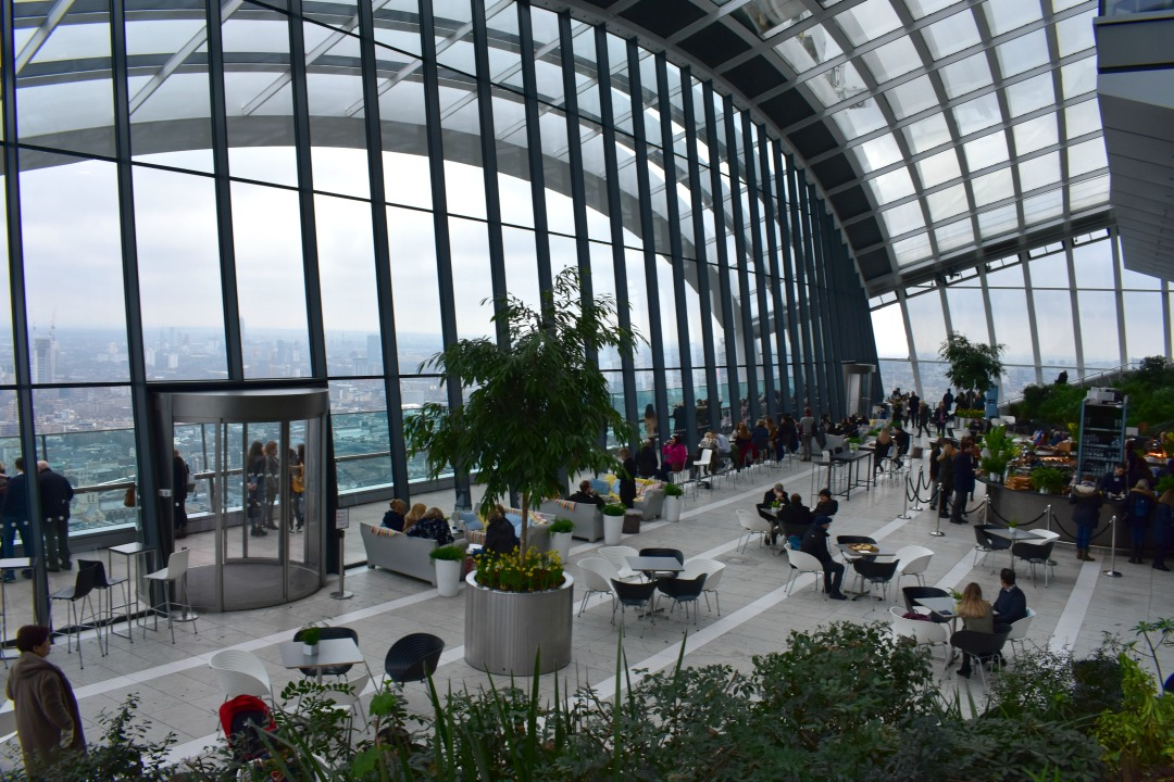 The Sky Garden viewing platform during daylight