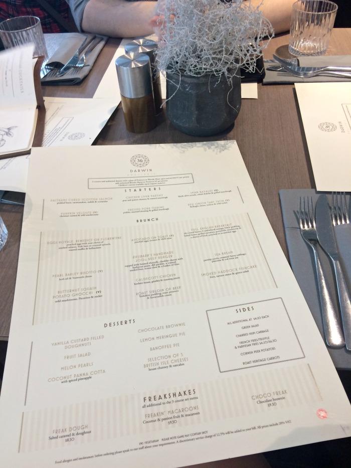 The Brunch Set Menu at Darwin Brasserie