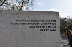 Sign in Greenwich Park